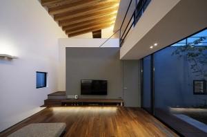 リビング 中庭 設計 建築家