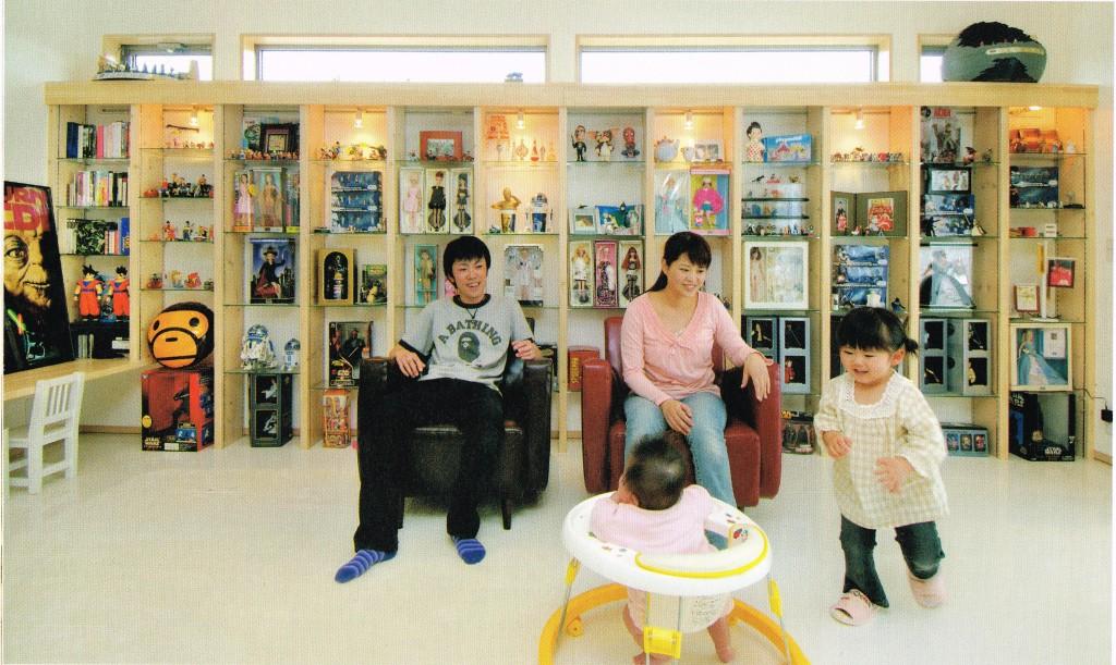 三重県三重郡菰野町 建築家との家づくり フィギュアコレクター コレクションルーム ディスプレーケース
