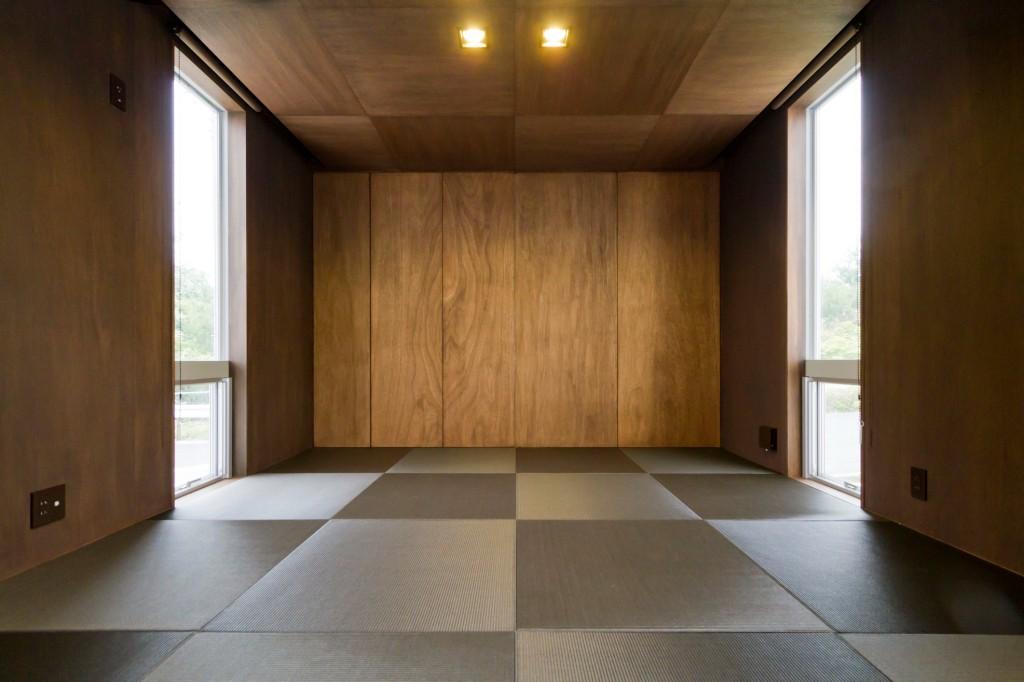 シンプル、モダンな和室 色や素材の合わせ方によって個性のある和室に