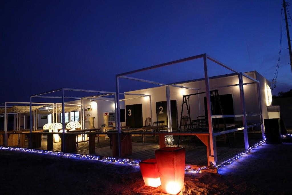 三重県津市 建築家との家づくり専門店 アポア 海の家 APOA HALLO プロジェクションマッピング