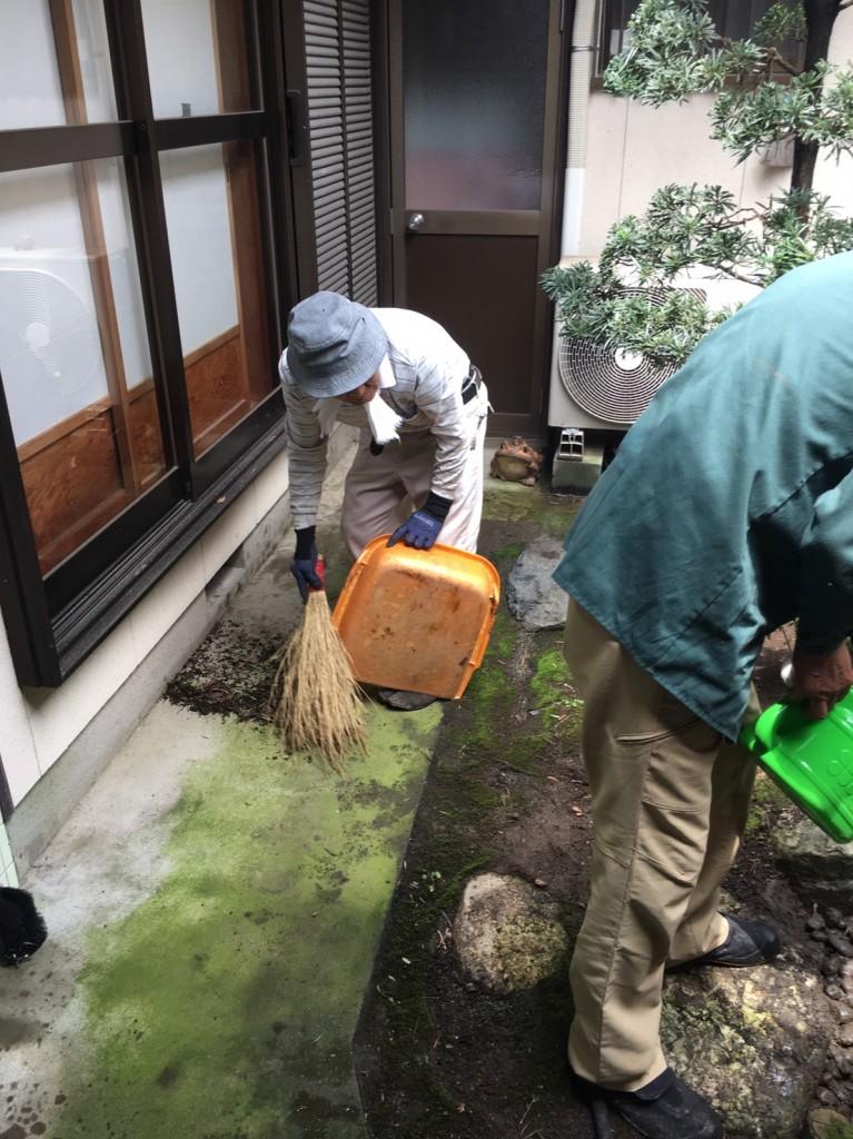 三重県津市でのリフォーム相談 中庭のお手入れ 庭木の剪定 職人の技