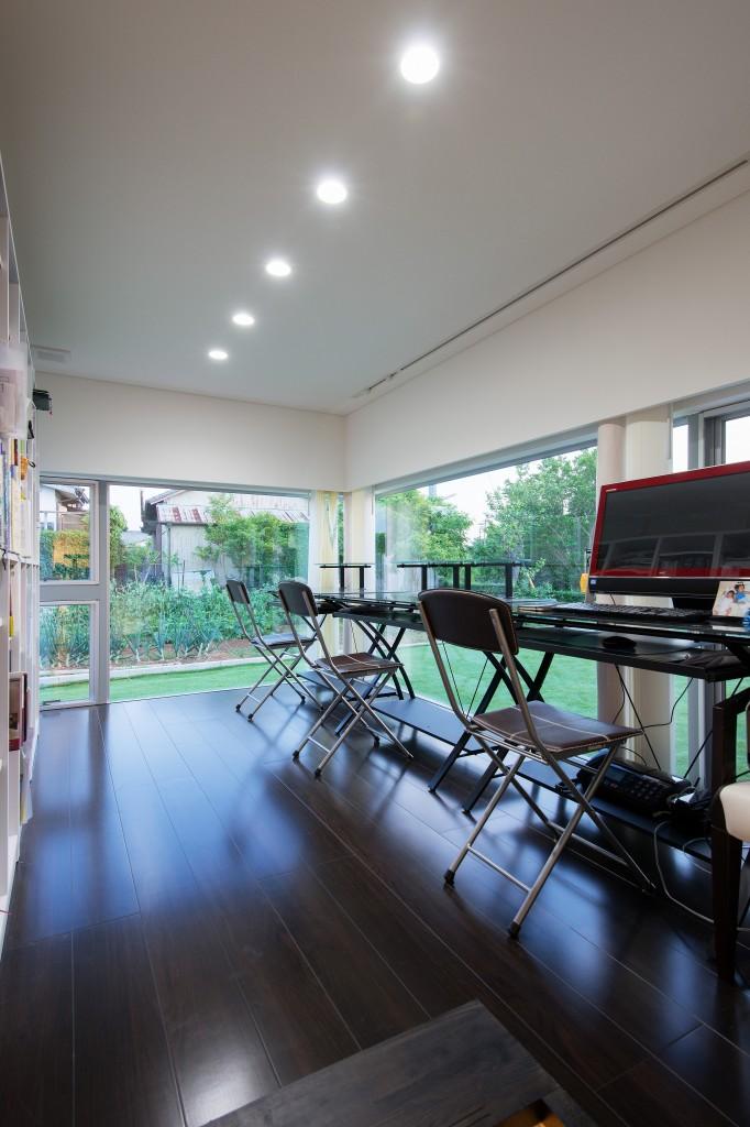 三重県伊勢市 建築家との家づくり 書斎 オーダーメイドの注文住宅 趣味を活かす家づくり