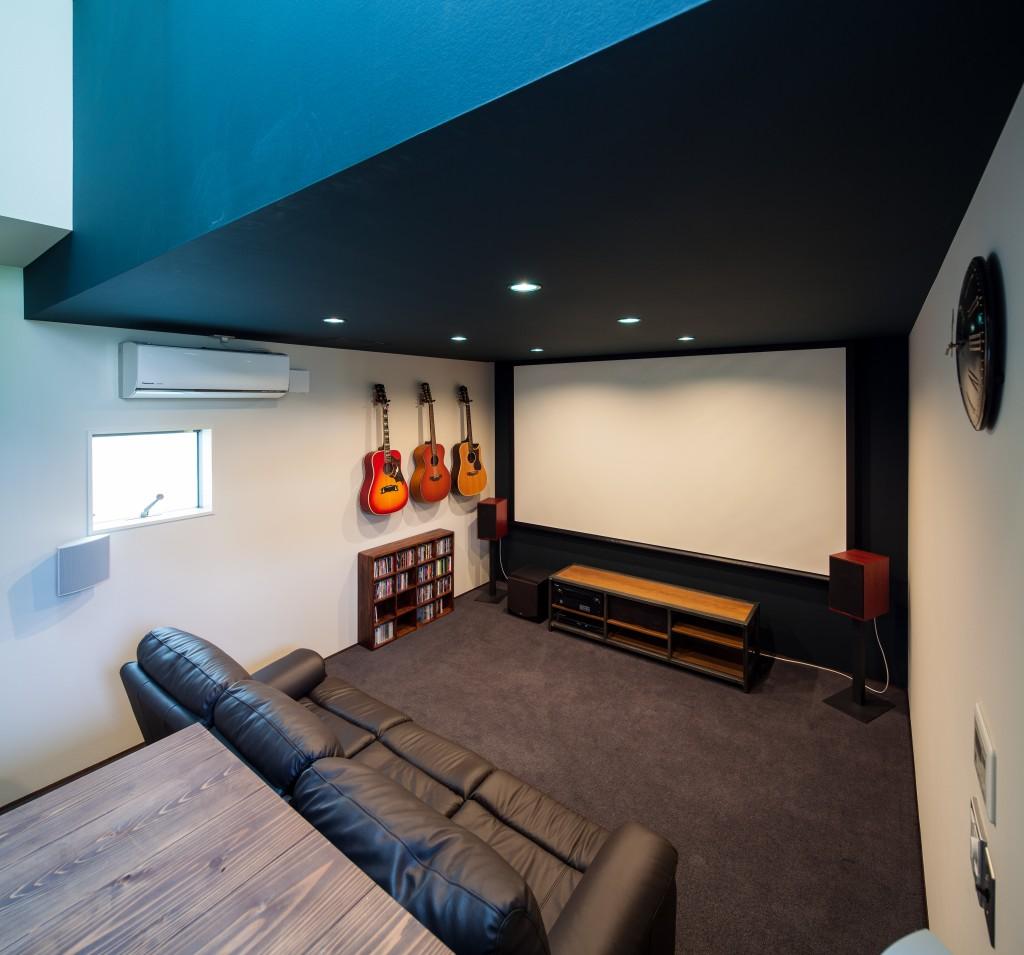 三重県四日市市 建築家との家づくり シアタールーム 注文住宅 防音ルーム 音楽室