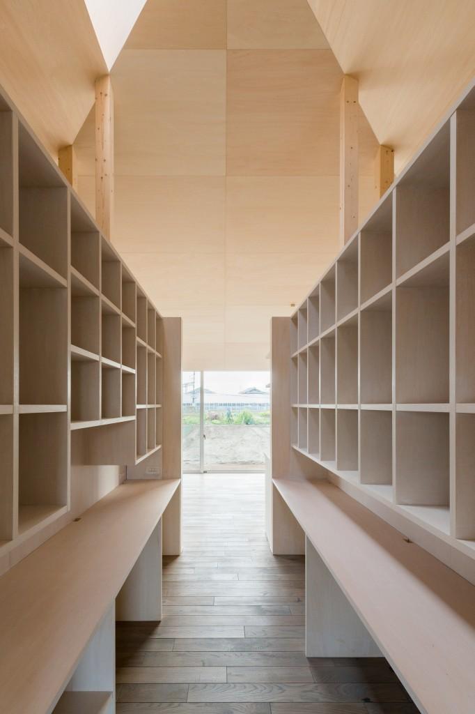 三重県津市 建築家との家づくり 書斎 スタディーコーナー 本の収納 注文住宅