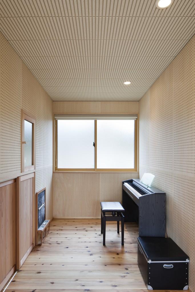 三重県松阪市 建築家との家づくり 防音室 ピアノの部屋 音響設備