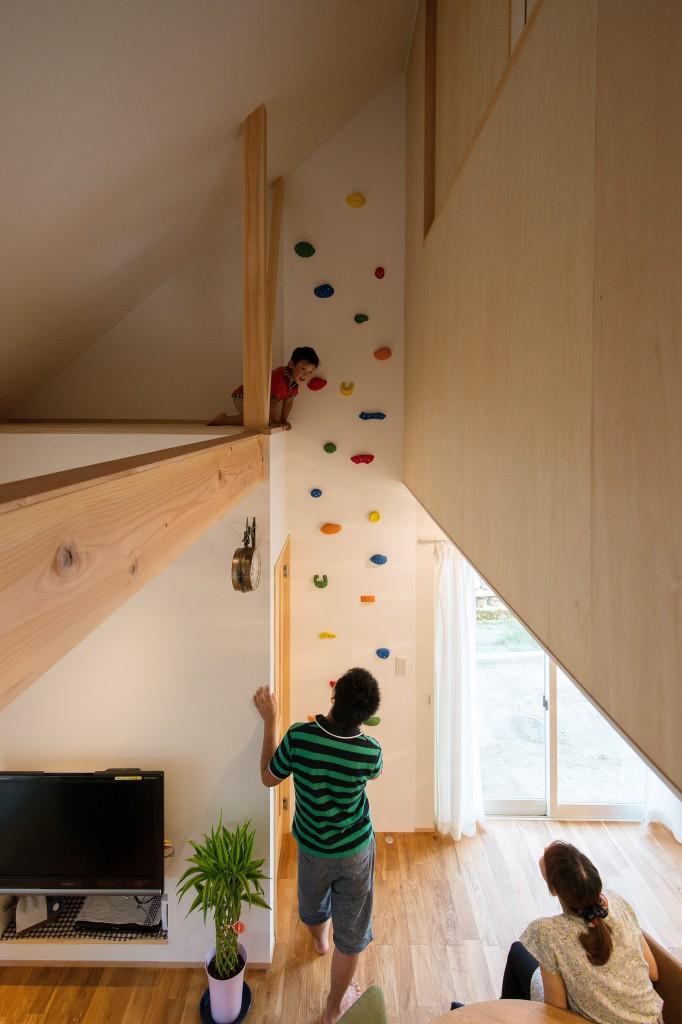 三重県三重郡菰野町 自宅でボルダリング 親子で楽しめる家づくり 建築家との家づくり
