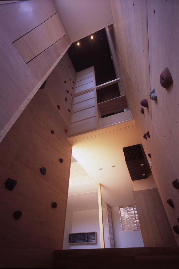 三重県津市 建築家との家づくり クライミングが出来る家 自宅でボルダリング 注文住宅