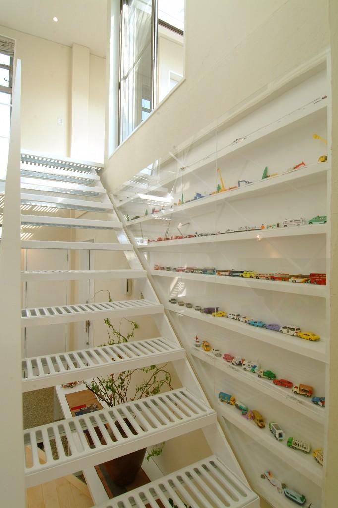三重県四日市市 コレクションケース ミニカーコレクション 建築家との家づくり