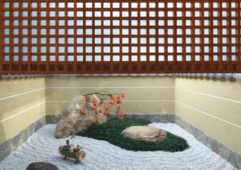 三重県四日市市 建築家との家づくり 坪庭 和風庭園 井桁格子