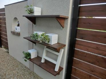 門塀の棚 壁面緑化ピコガーデン ジョリパット アイカ工業