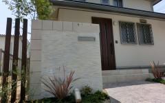 タイル モザイクタイル 門柱