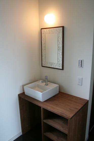 洗面台 建築家とつうる家 新築住宅設計施工