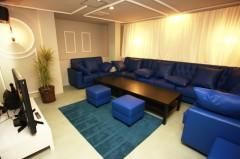 ブルーを基調にしたバリ風の個室
