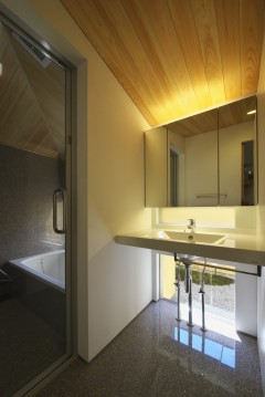 岩倉の家 洗面台