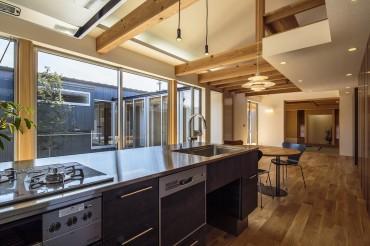 キッチン リビング 和光の家 建築家 梶浦 博昭