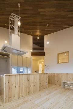 キッチン リビング 円相の家 建築家 梶浦 博昭