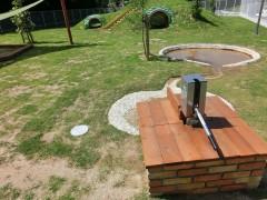 子供施設、ガーデン、校庭、建築家の庭