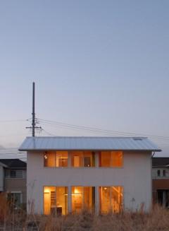 外観 四角 シンプル 住宅 house K 建築家 竹中 アシュ