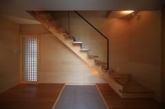 階段 玄関 清流の家 建築家 梶浦 博昭