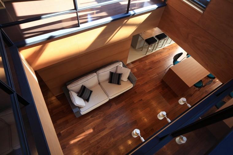 リビング 机 椅子 ダイニングテーブル ソファー 全体 月桂の家 建築家 梶浦 博昭